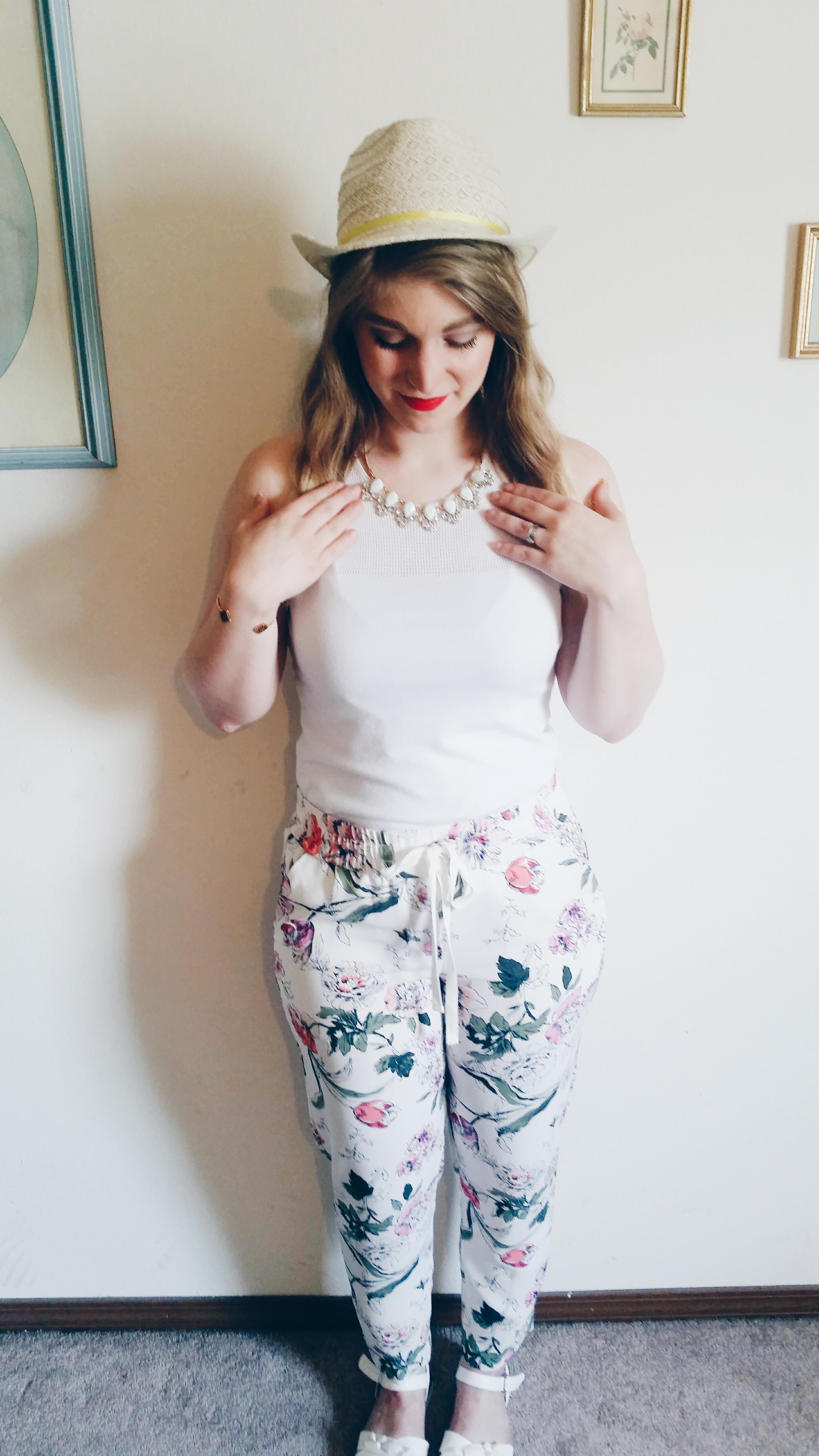 White & Florals